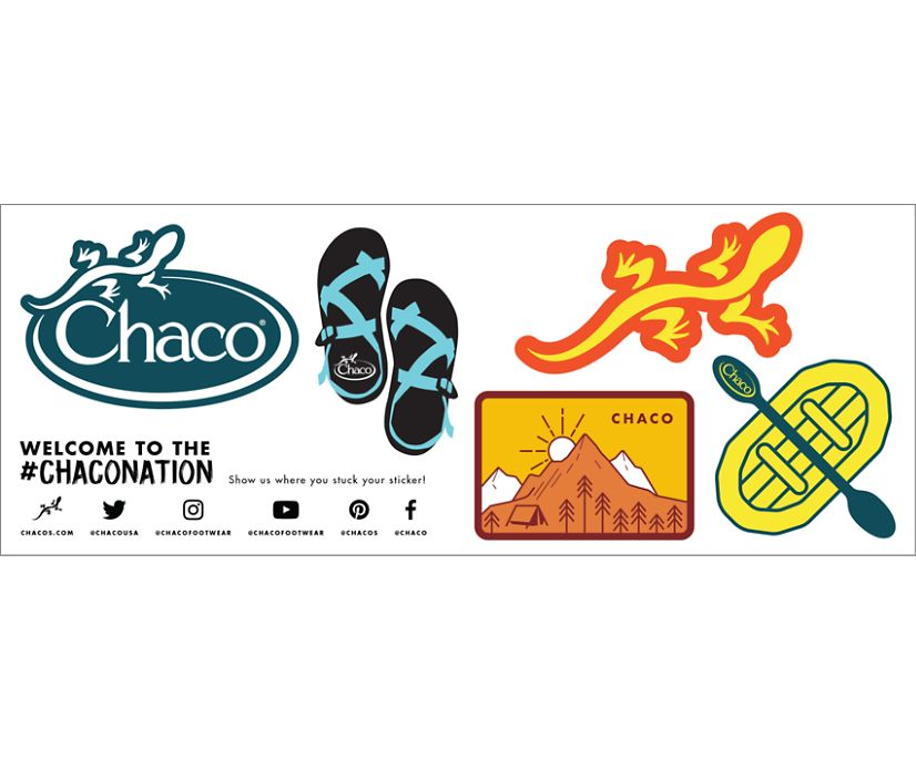 Chaco Sticker Pack, White, dynamic