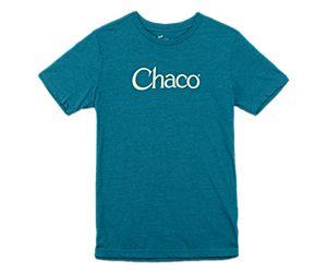 Chaco Logo Tee, Deep Teal, dynamic