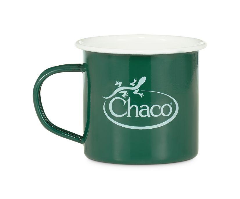 Chaco Enamel Mug, Chaco Green, dynamic
