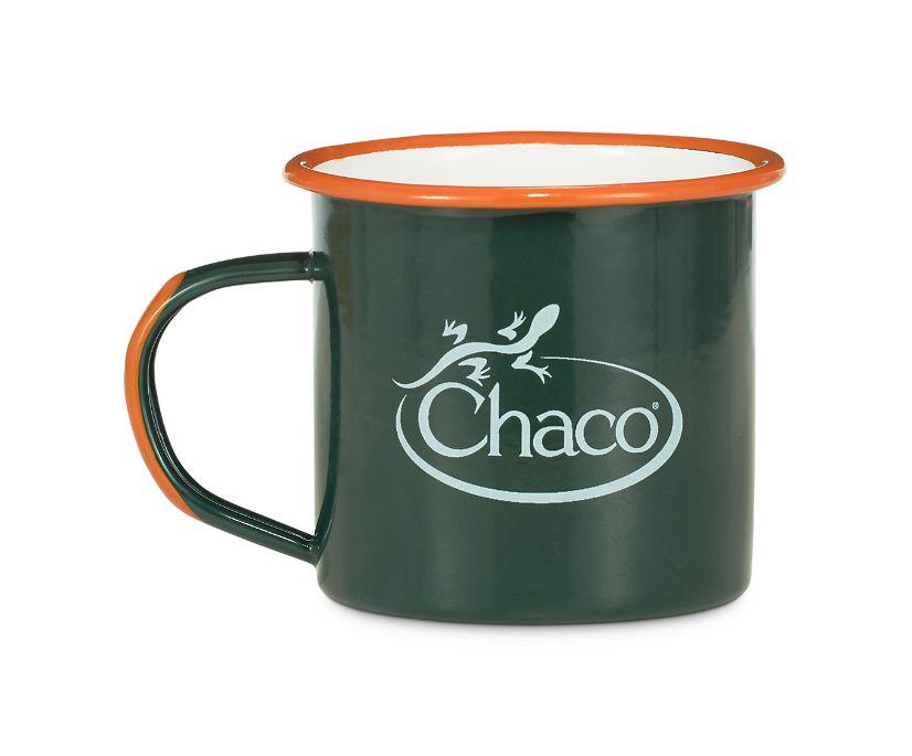 Chaco Enamel Mug, Jade, dynamic