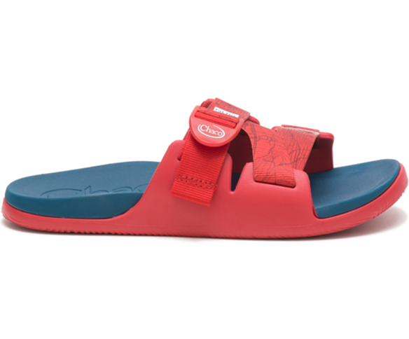 Chaco X New Belgium Chillos Slide, Contour Red, dynamic