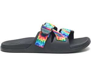 Chillos Slide, Dark Tie Dye, dynamic