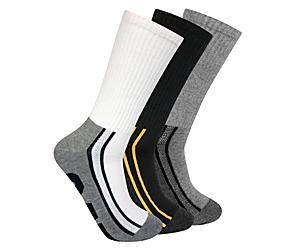 Half Cushion Crew Sock 3-Pack, Multi, dynamic