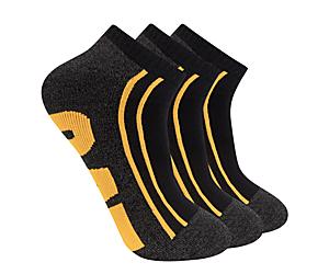 Half Cushion Quarter Sock 3-Pack, Black, dynamic