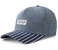 Chambray Sperry Stamp Hat, Blue/Stripe, dynamic