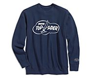 Made in USA Cloud Crew Neck Sweatshirt, Navy, dynamic