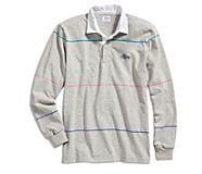 Cloud Multi-Color Striped Rugby Shirt, Grey/Multi, dynamic