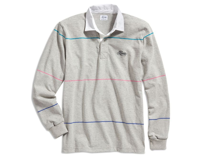 Cloud Multi-Color Striped Rugby Shirt, Grey/Multi, dynamic