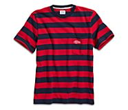 Cloud Rugby Stripe Pocket T-Shirt, Red/Navy, dynamic