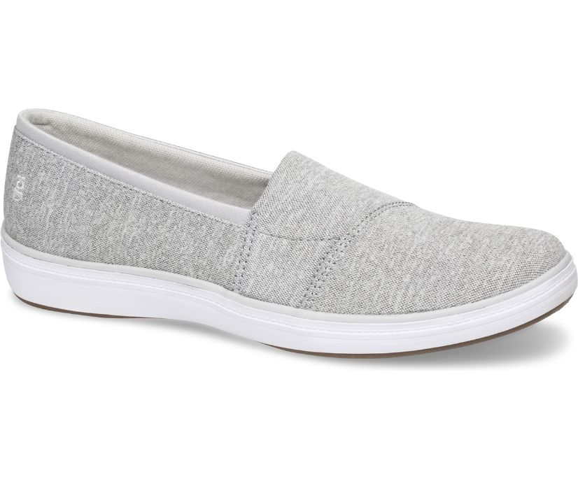 Siesta Stretch Chambray, Light Grey, dynamic