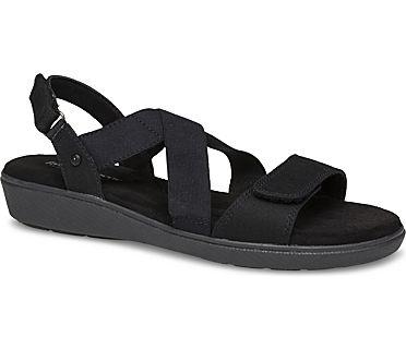 Leah 2 Strap Sandal., Black, dynamic