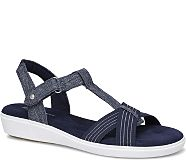 Ruby T-Strap Sandal., Peacoat Navy Chambray, dynamic