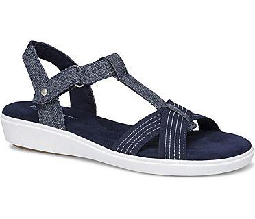 Ruby T-Strap Sandal., Peacoat Navy Chambray, dynamic