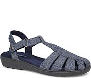Ida Fisherman Sandal, Peacoat Navy Chambray, dynamic