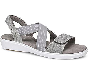 Leah 2 Strap Sandal., Grey Chambray, dynamic