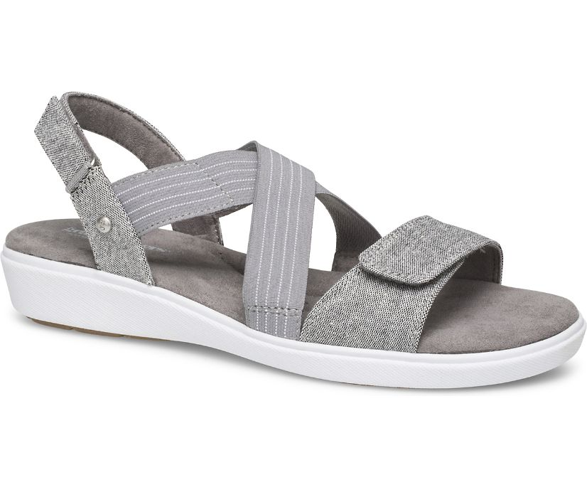 Leah 2 Strap Sandal, Grey Chambray, dynamic