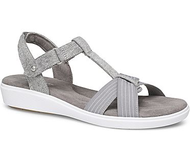 Ruby T-Strap Sandal., Grey Chambray, dynamic