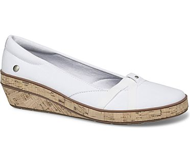 Gigi Wedge Canvas, White, dynamic