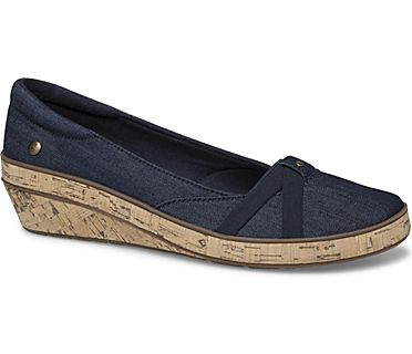 Gigi Wedge Denim, Navy, dynamic