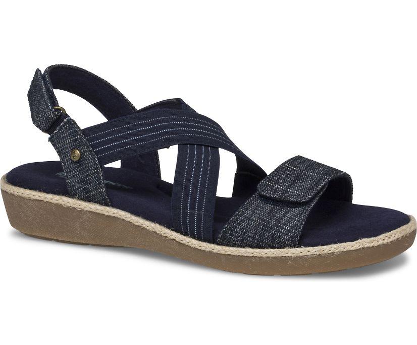 Leah 2 Strap Sandal., Cross Hatch Denim, dynamic