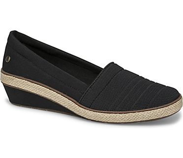 Quinn Wedge Canvas, Black, dynamic