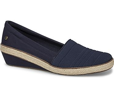 Quinn Wedge Canvas, Navy, dynamic