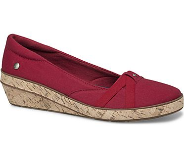 Gigi Wedge Canvas, Red, dynamic