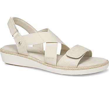 Leah 2 Strap Sandal, Gold Metallic Linen, dynamic