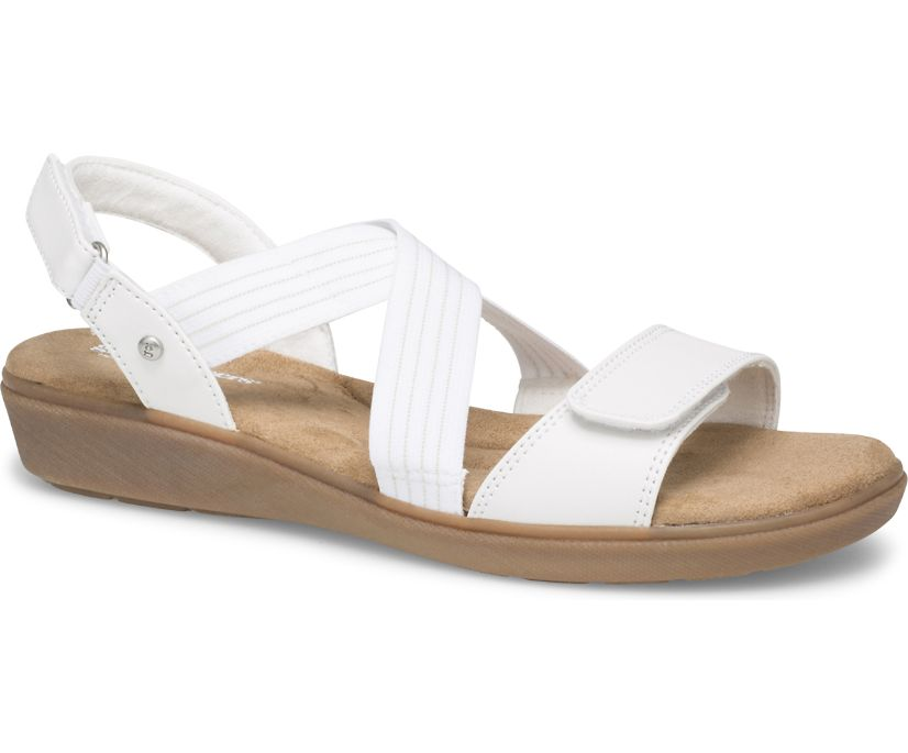 Leah 2 Strap Sandal Smooth, White, dynamic