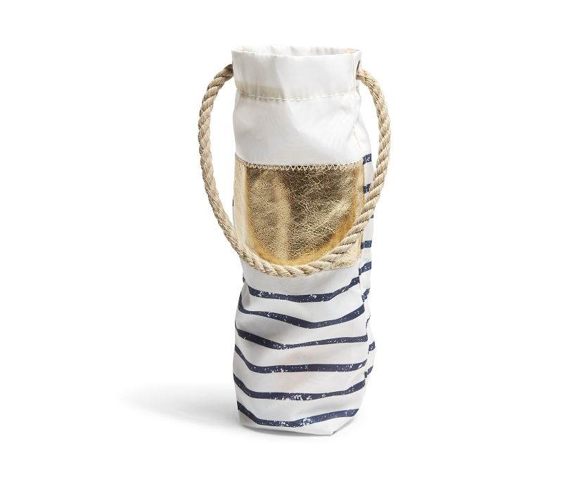 Sea Bags Wine Tote, White, dynamic