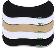 5 Pack No Show Socks, White Nude Black, dynamic