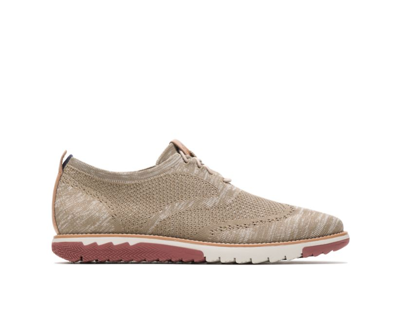 Expert Wingtip Knit, Taupe Multi Knit, dynamic