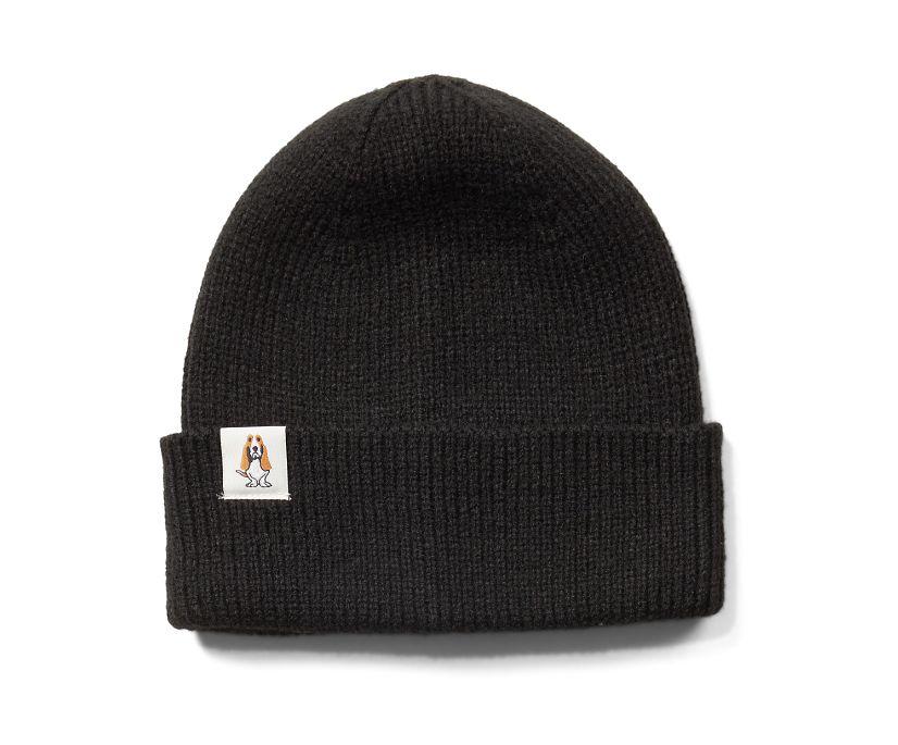 Knit Beanie, Black, dynamic
