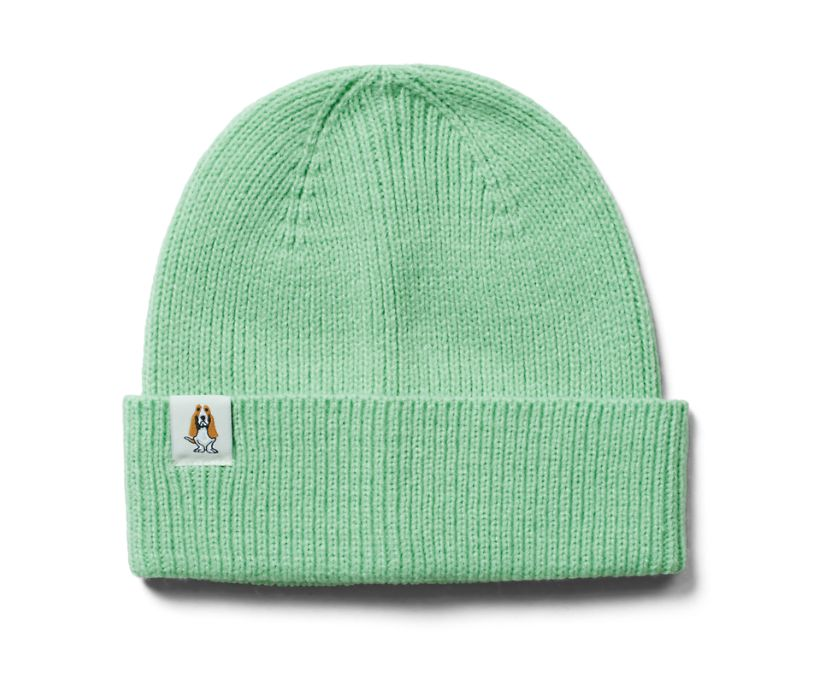 Knit Beanie, Light Sage Green, dynamic