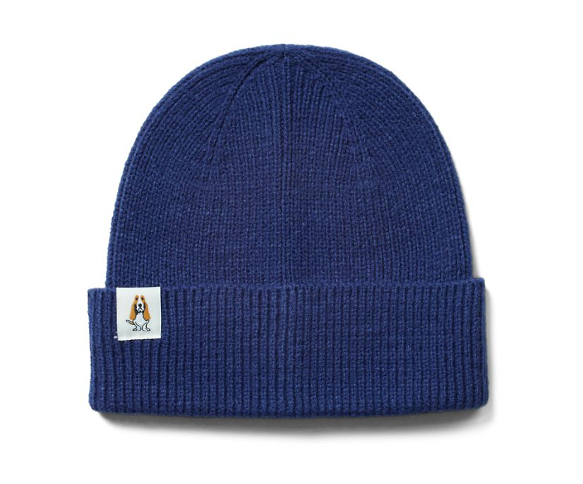 Knit Beanie, Navy, dynamic