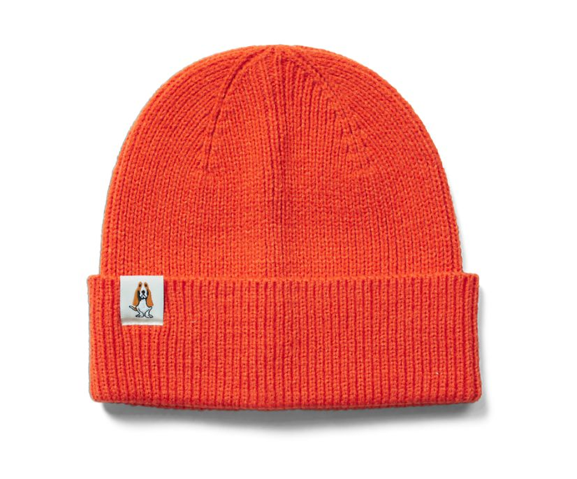 Knit Beanie, Brick Orange, dynamic