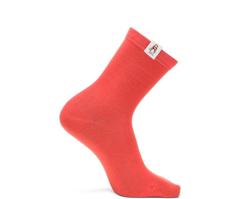 Core Crew Sock, Brick Orange, dynamic