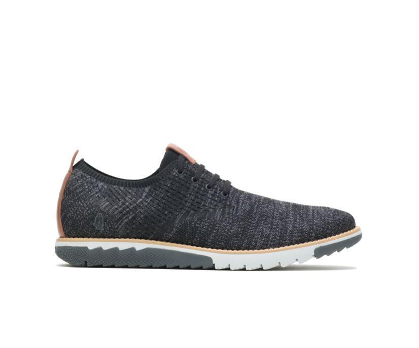 Expert Knit Plain Toe Oxford, Black Textile, dynamic