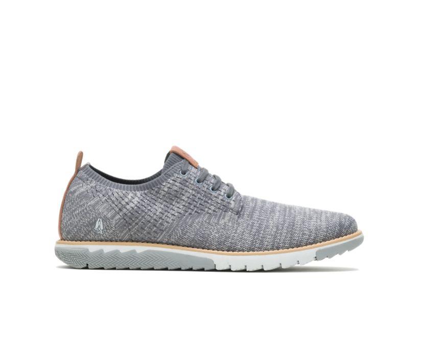 Expert Knit Plain Toe Oxford, Grey Textile, dynamic