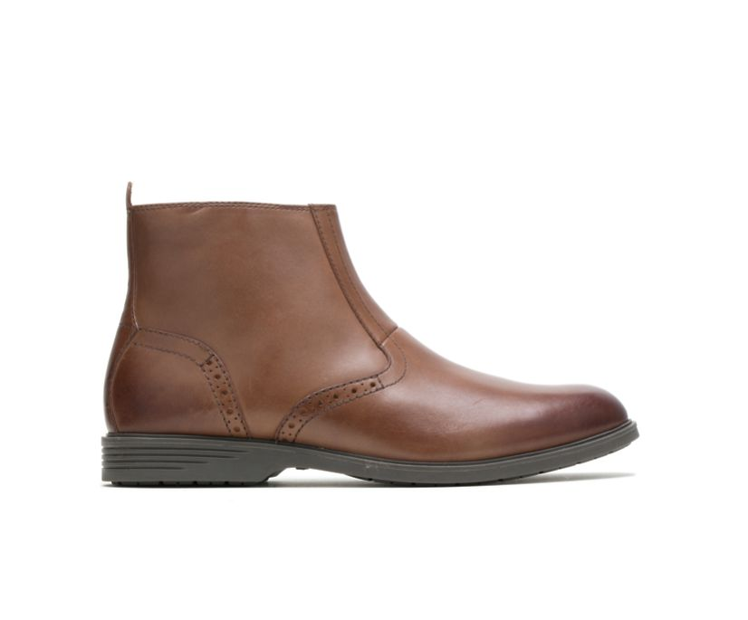 Shepsky Zip Boot, Brown Leather, dynamic