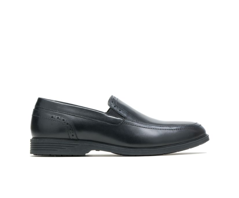 Shepsky Slip-On, Black Leather, dynamic