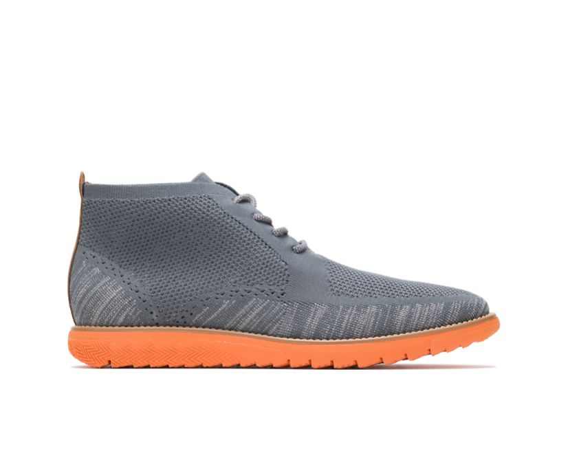 Expert Chukka Knit, Dark Grey Multi Knit - Orange Outsole, dynamic