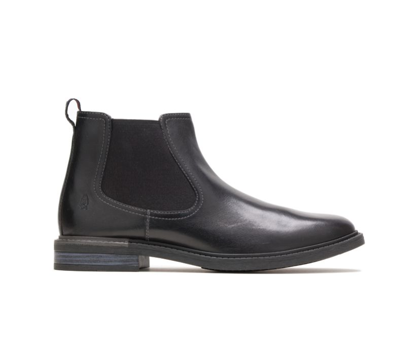 Davis Chelsea Boot, Black Leather, dynamic