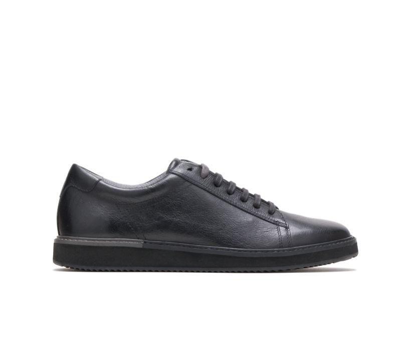 Heath Sneaker, Black Leather/Black Outsole, dynamic