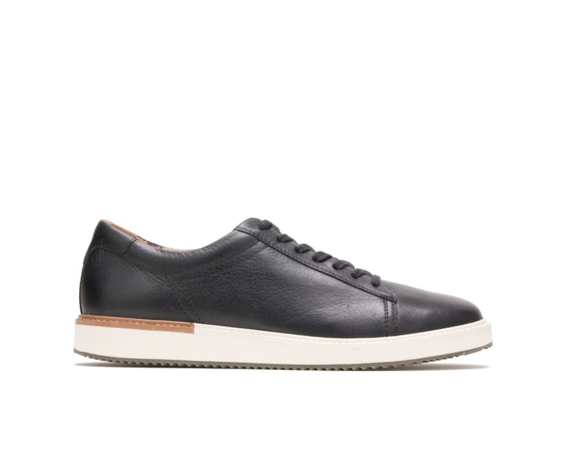 Heath Sneaker, Black Leather, dynamic