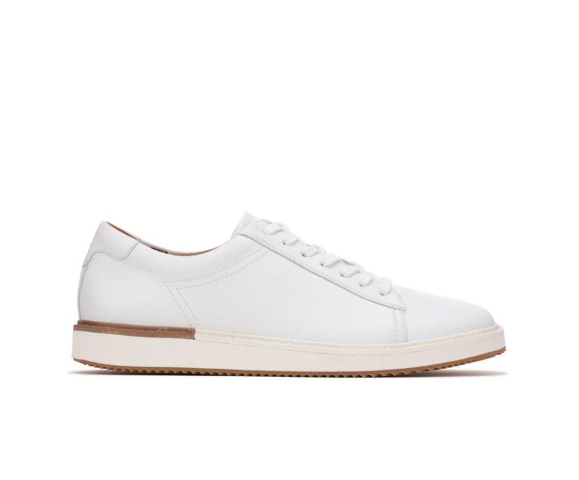 Heath Sneaker, White Leather, dynamic