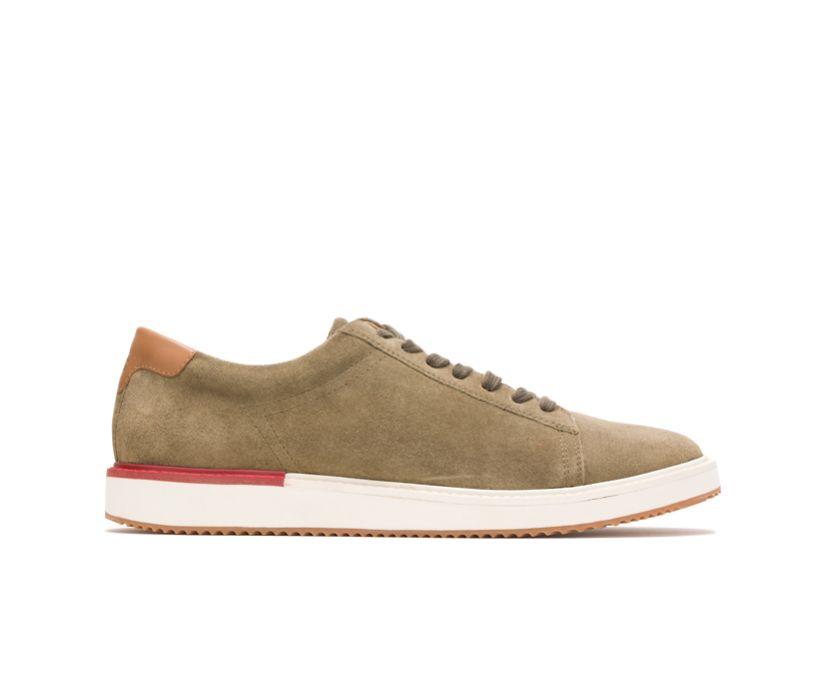 Heath Sneaker, Olive Suede, dynamic