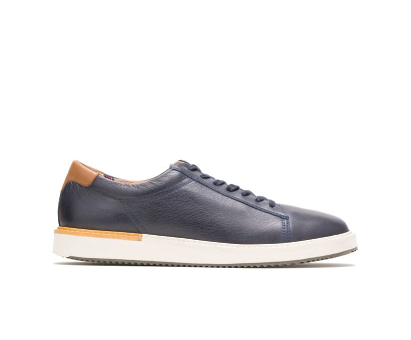 Heath Sneaker, Navy Leather, dynamic