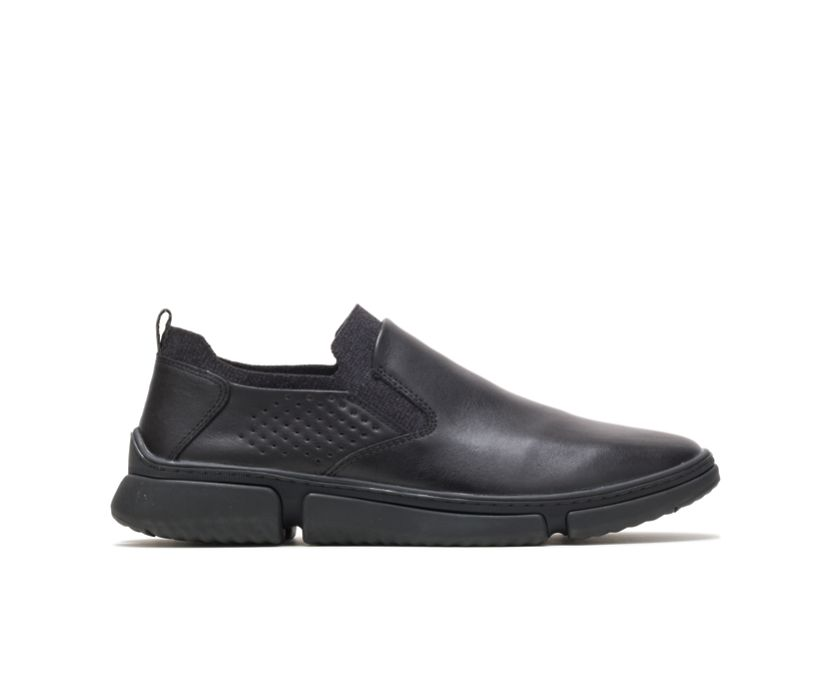 Bennet Plain Toe Slip-On, Black Leather, dynamic