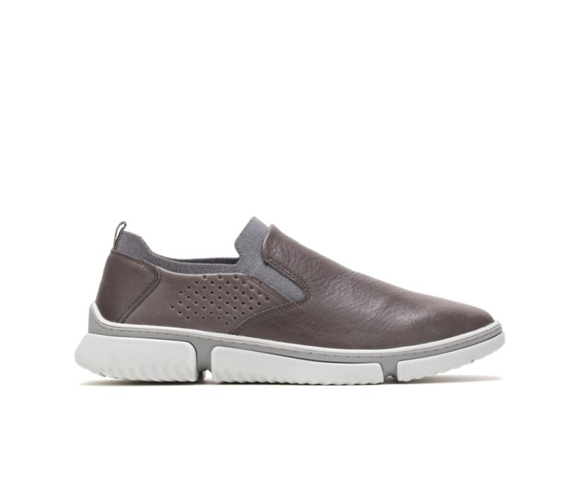 Bennet Plain Toe Slip-On, Dark Grey Leather, dynamic